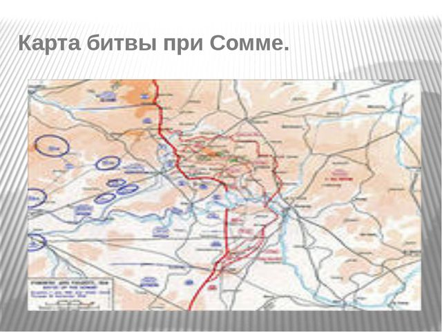 Карта битвы при Сомме.