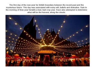 The first day of the new year for British boundary between the recent past an