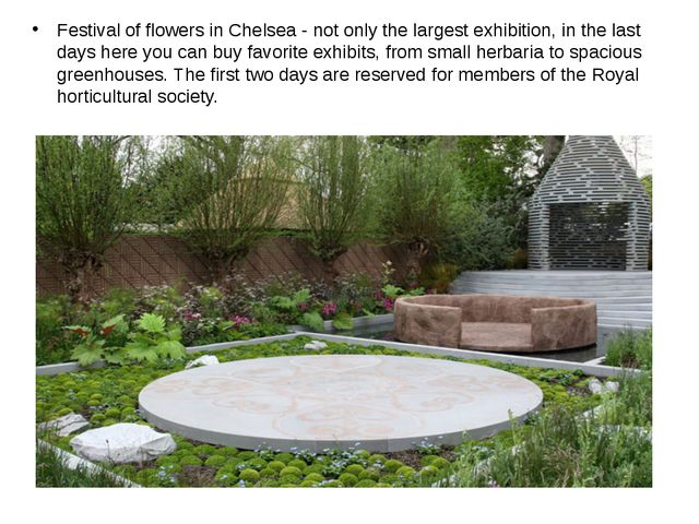 Festival of flowers in Chelsea - not only the largest exhibition, in the las...