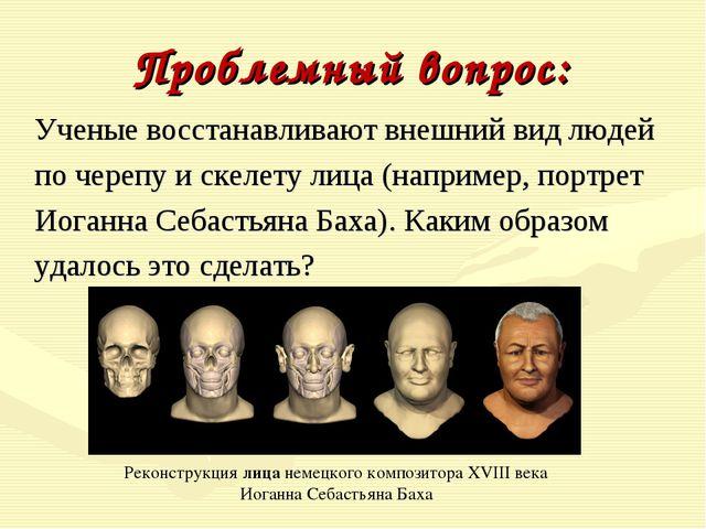 Проблемный вопрос: Ученые восстанавливают внешний вид людей по черепу и скел...