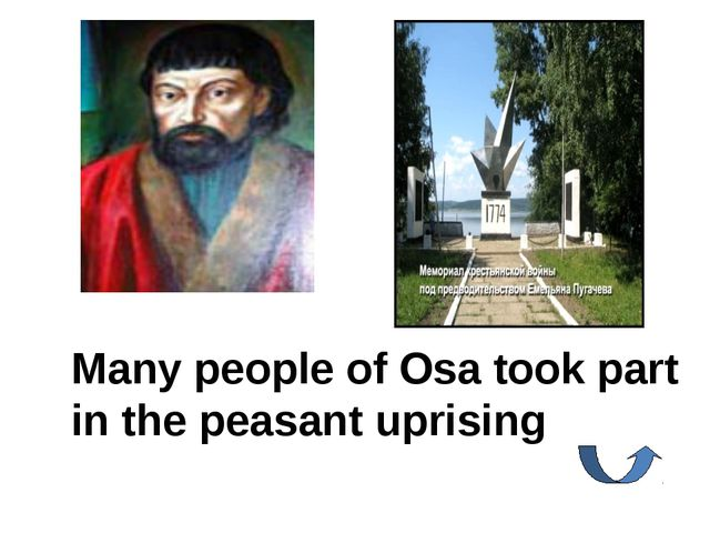 Many people of Osa took part in the peasant uprising