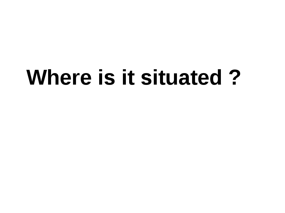 Where is it situated ?
