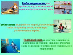Гребля академическая, вид гребного спорта, включающий гонки на академических