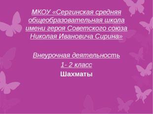 МКОУ «Сергинская средняя общеобразовательная школа имени героя Советского со