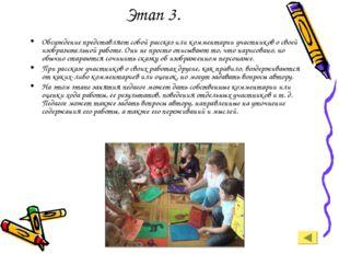Этап 3. Обсуждение представляет собой рассказ или комментарии участников о св