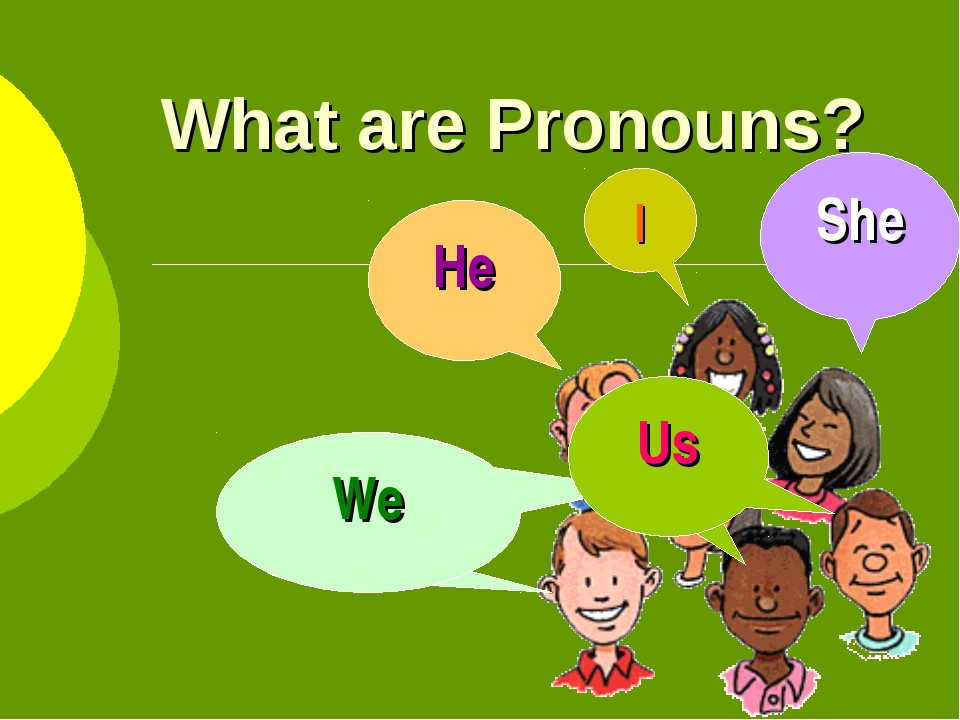 What are Pronouns? I He She