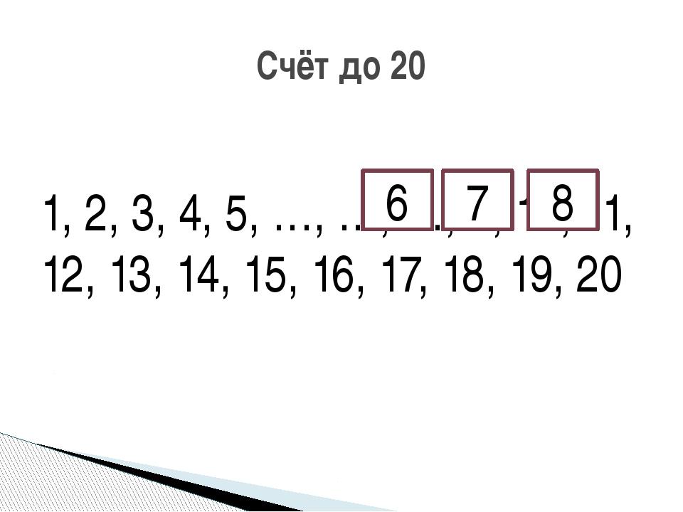 1, 2, 3, 4, 5, …, …, …, 9, 10, 11, 12, 13, 14, 15, 16, 17, 18, 19, 20 Счёт д...