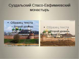 Суздальский Спасо-Евфимиевский монастырь Колесикова А.А.