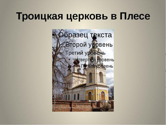 Троицкая церковь в Плесе Колесикова А.А.