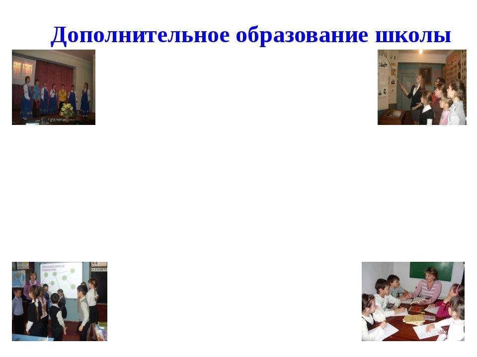 Дополнительное образование школы