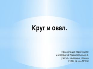 Презентацию подготовила: Макаровская Ирина Васильевна, учитель начальных клас