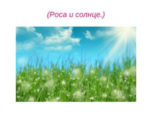 (Роса и солнце.)