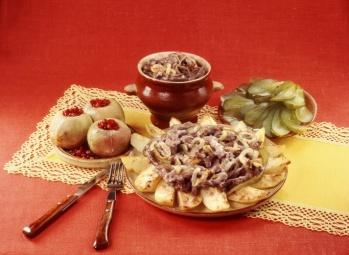Вторые блюда русская кухня Еда