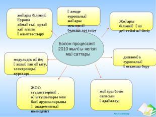 Болон процессінің 2010 жылғы негізгі мақсаттары жоғары білімнің Еуропа аймақт