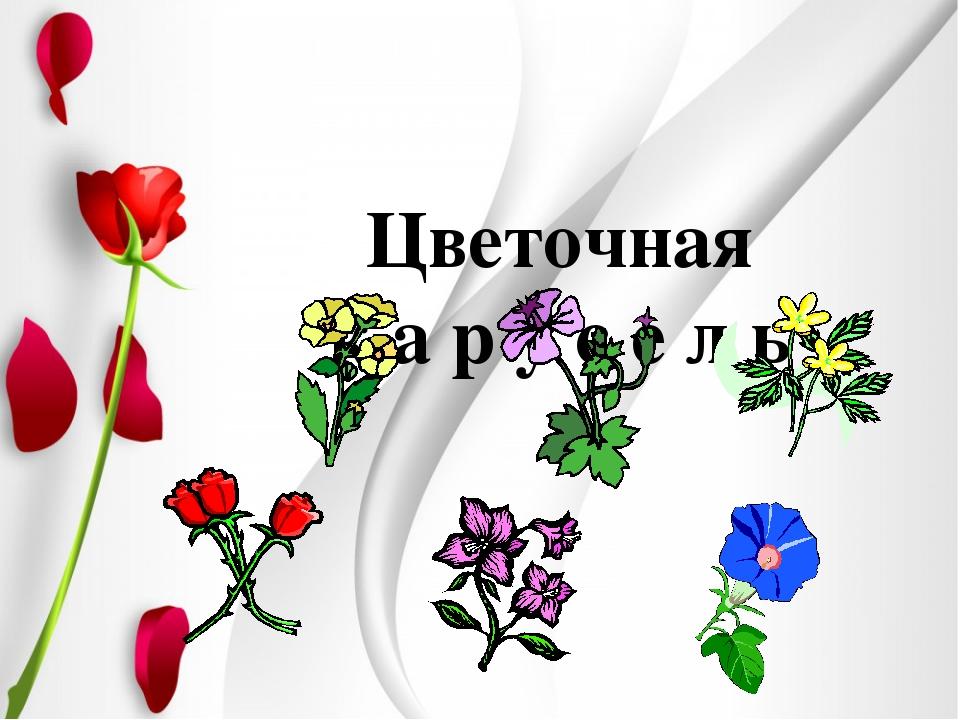 Цветочная к а р у с е л ь