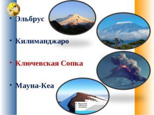 Эльбрус Килиманджаро Ключевская Сопка Мауна-Кеа