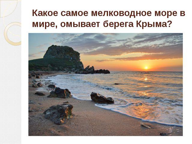 Какое самое мелководное море в мире, омывает берега Крыма?