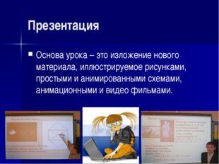 Презентация Основа урока – это изложение нового материала, иллюстрируемое рис