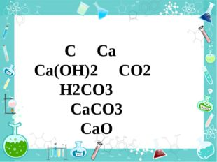 C Ca Ca(OH)2 CO2 H2CO3 CaCO3 CaO
