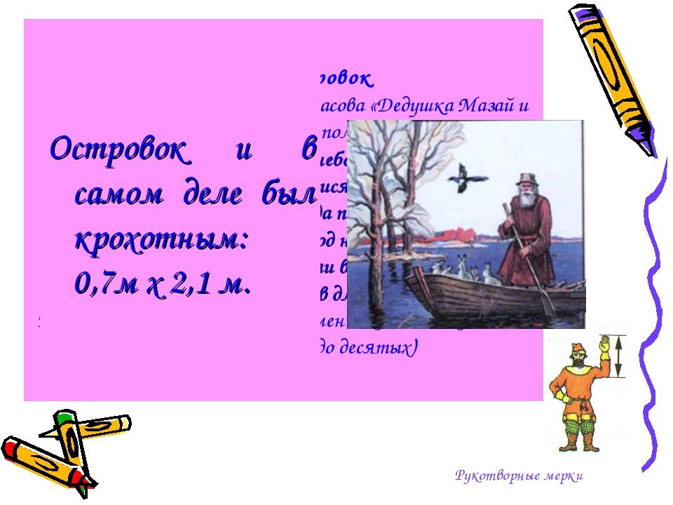 Заячий островок Герой стихотворения Н.А. Некрасова «Дедушка Мазай и зайцы» вс...