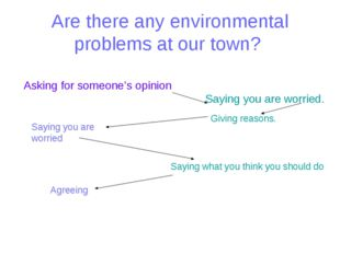 Are there any environmental problems at our town? Asking for someone's opinio