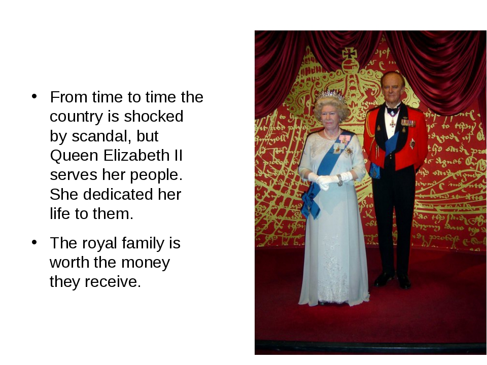 From time to time the country is shocked by scandal, but Queen Elizabeth II...