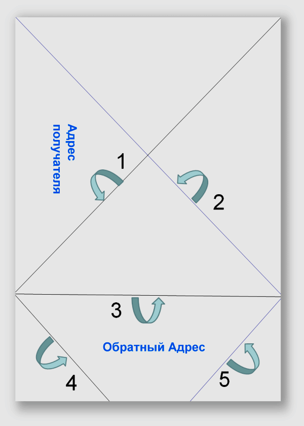 Как сделать почтовый треугольник