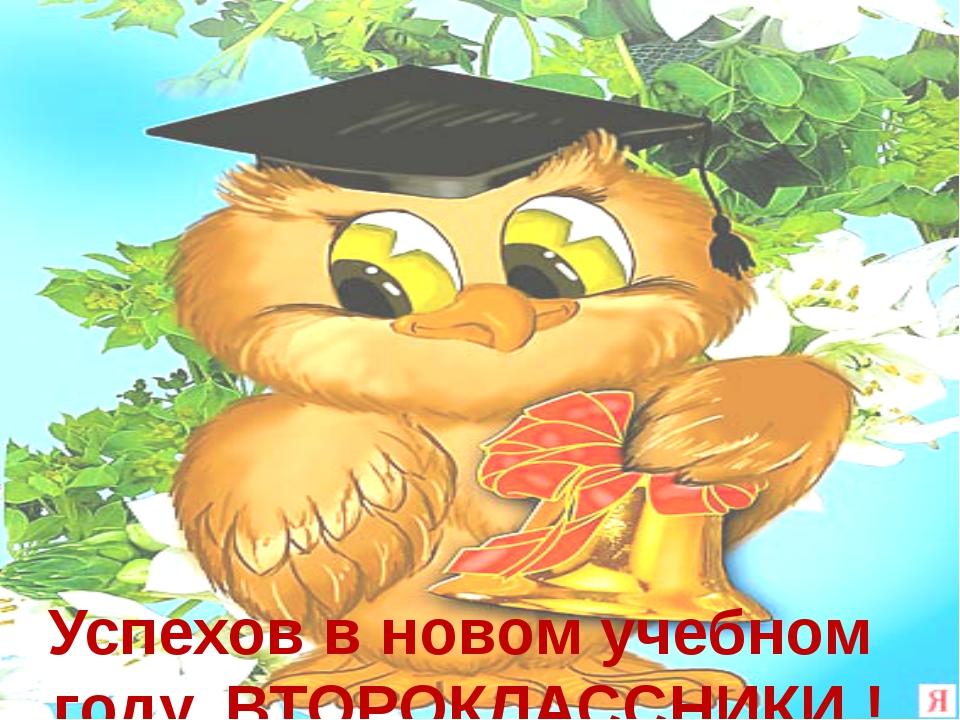 Успехов в новом учебном году, ВТОРОКЛАССНИКИ ! ВЫПУ