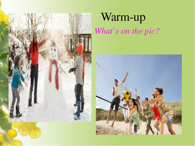 Warm-up What`s on the pic?