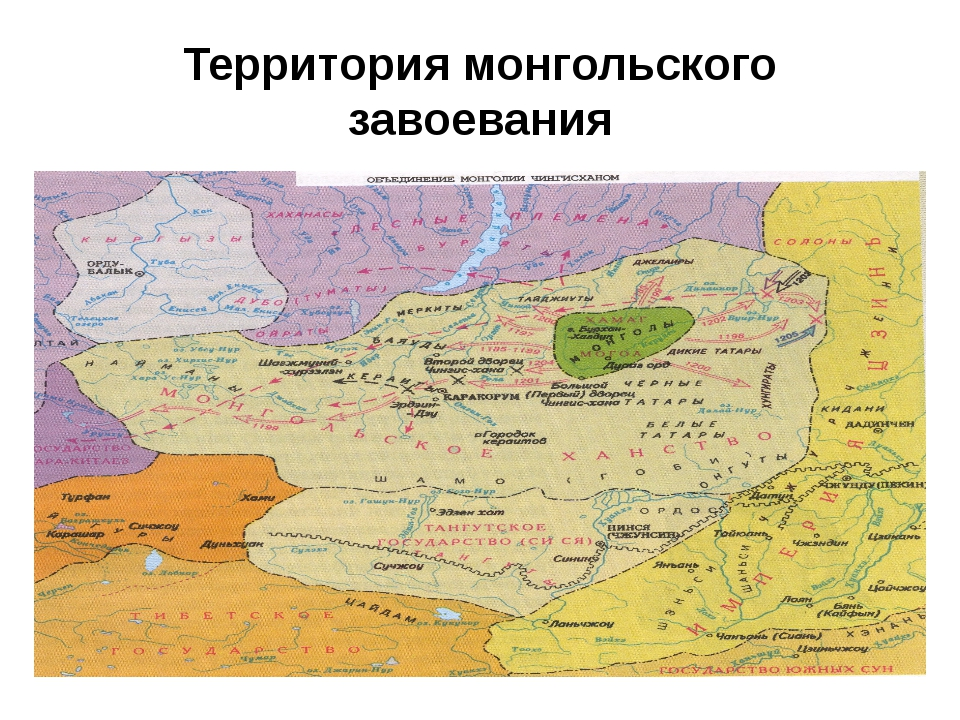 Территория монгольского завоевания