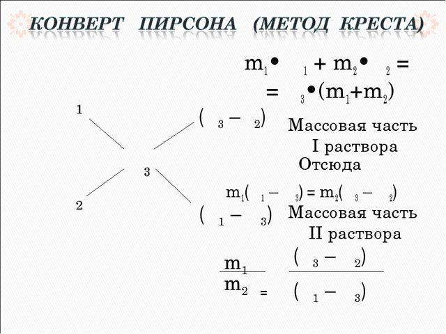 m1• ω1 + m2•ω2 = = ω3•(m1+m2) Отсюда m1(ω1 – ω3) = m2(ω3 – ω2)  = m1 m2 (ω3...