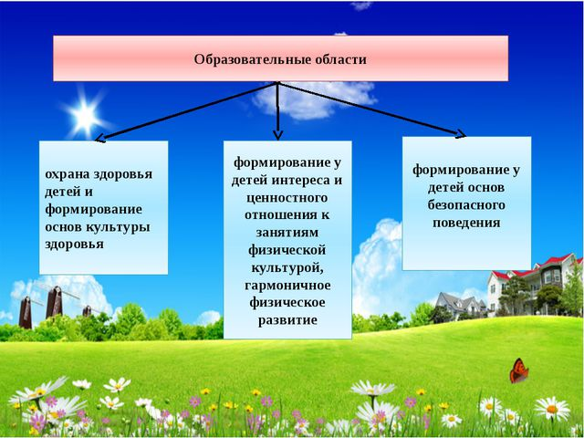 Образовательные области охрана здоровья детей и формирование основ культуры з...