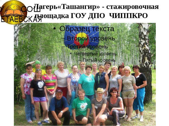 Лагерь«Ташангир» - стажировочная площадка ГОУ ДПО ЧИППКРО МОУ СОШ ПОЛЕТАЕВСКАЯ