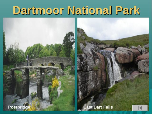 Dartmoor National Park Postbridge East Dart Falls