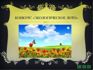 КОНКУРС «ЭКОЛОГИЧЕСКОЕ ЛОТО»