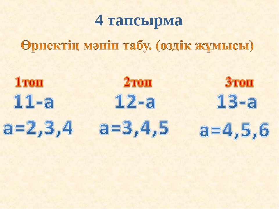 4 тапсырма