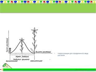 Норма реакции для определенного вида растения