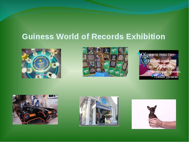 Guiness World of Records Exhibition