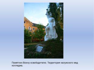 Памятник Воину-освободителю. Территория калужского мед колледжа.