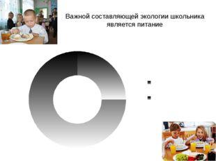 Важной составляющей экологии школьника является питание