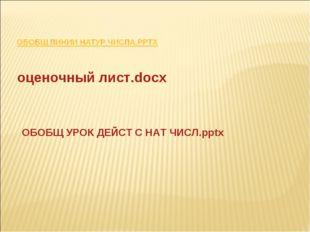 оценочный лист.docx ОБОБЩ УРОК ДЕЙСТ С НАТ ЧИСЛ.pptx