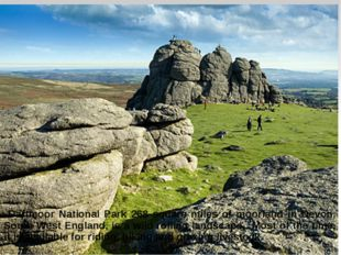 Dartmoor National Park 268 square miles of moorland in Devon, South West Eng