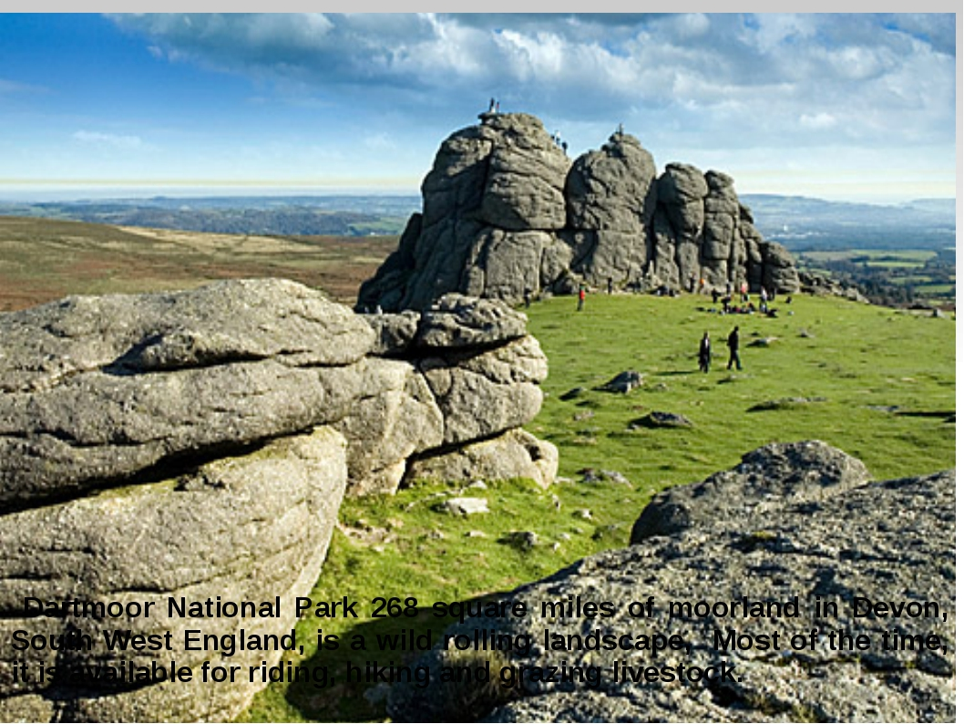 Dartmoor National Park 268 square miles of moorland in Devon, South West Eng...