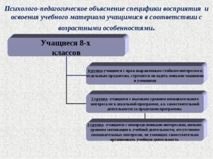 Психолого-педагогическое объяснение специфики восприятия и освоения учебного