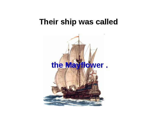 Their ship was called the Mayflower .