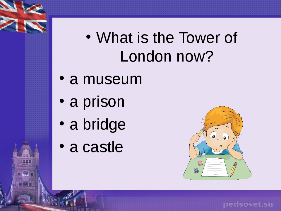What is the Tower of London now? a museum a prison a bridge a castle