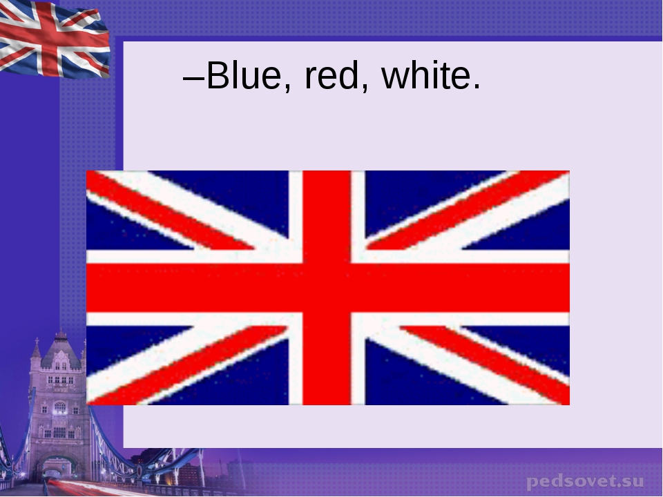 Blue, red, white.