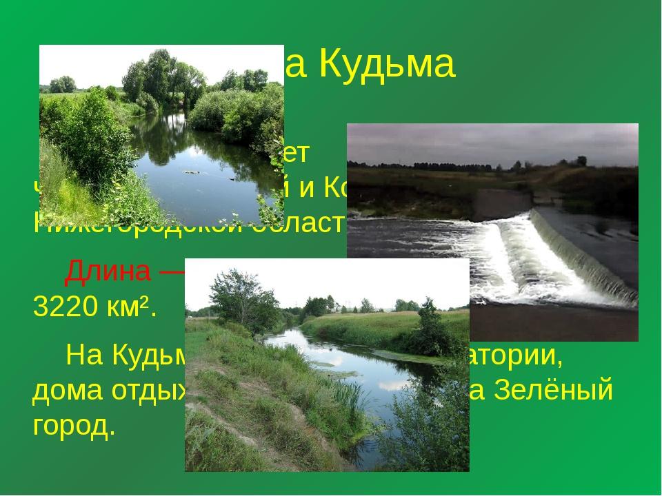 Река Кудьма Кудьма протекает черезБогородскийиКстовскийрайоны Нижегородск...