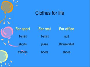 Clothes for life For sport For rest For office T-shirt T-shirt suit shorts je