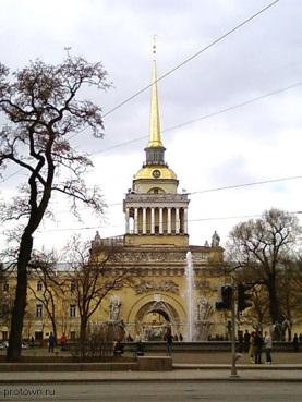 Центральная арка адмиралтейства в Санкт Петербурге